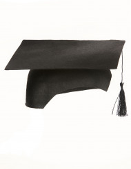 Chapéu de estudante preto adulto