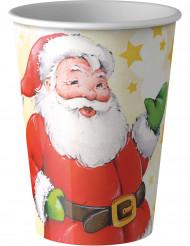 8 Copos Pai Natal 20 cl