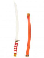 Sabre de ninja em plástico vermelho criança