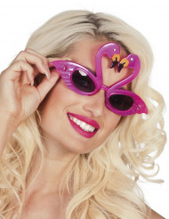 Oculos Flamingo rosa adulto