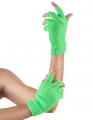 Miténes curtos verdes fluo adulto
