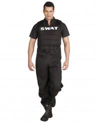 Disfarce de agente S.W.A.T para homem