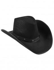 Chapéu preto de Cowboy para adulto