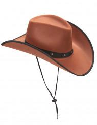 Chapéu castanho de cowboy para adulto