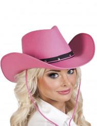 Chapéu Cor-de-rosa de cowboy para adulto