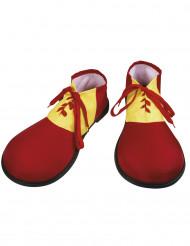Sapatos vermelhos de palhaço para adulto