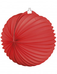 Lanterna bola vermelha 23 cm