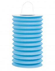 lanterna de papel azul
