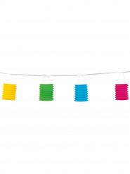Grinalda de 8 lanternas de papel colorido
