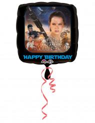 Balão de alumínio Happy Birthday Star Wars VII™