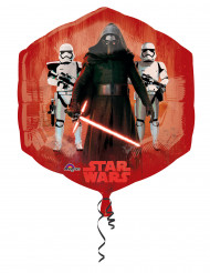 Balão de alumínio vermelho e azul Star Wars VII™ 55 x 58 cm