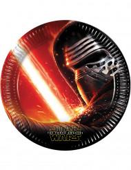 8 pratos em cartão Star Wars VII™ 22 cm