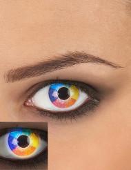 Lentes fantasia UV arco-íris adulto