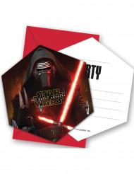 6 Convites Star Wars VII™ com envelopes.