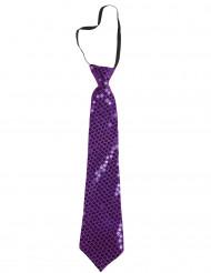 Gravata com lantejoulas violeta