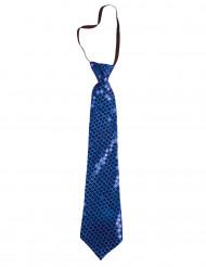 Gravata com lantejoulas azuis
