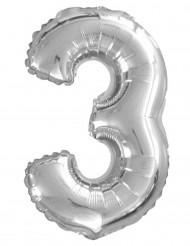 Balão de alumínio Número 3, 35 cm