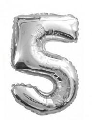 Balão de alumínio Número 5 35 cm