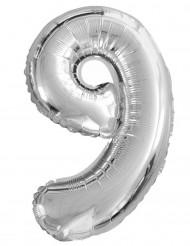 Balão de alumínio Número 9 35 cm