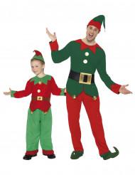 Disfarce de casal duendes de Natal Pai e Filho