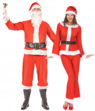 Disfarce de casal Pai e Mãe Natal adulto