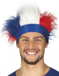 Bandolete com cabelos tricolor França adulto