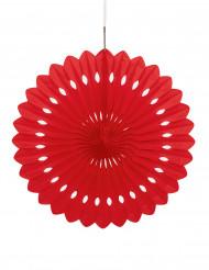 Roseta vermelha para pendurar 40 cm