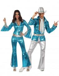 Disfarce Disco para casal-azul para adulto
