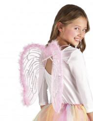 asas cor-de-rosa para criança 40x33cm