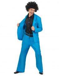 Disfarce disco azul homem