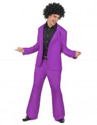 Disfarce disco violeta para homem