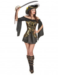 Disfarce pirata mulher
