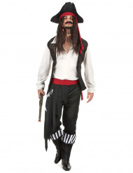 Disfarce de pirata às riscas para homem