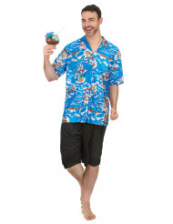 Disfarce de turista havaiano homem