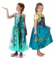 Disfarce de casal Anna e Elsa oficial Uma Festa Gelada™ para menina