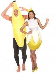 Disfarce de Casal de Banana para adulto