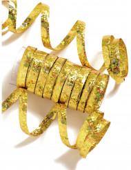 Rolo de 10 serpentinas douradas
