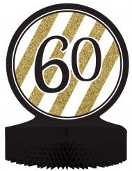 Centro e mesa 60 anos Preto e Dourado