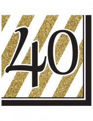16 Guardanapos de papel 40 anos