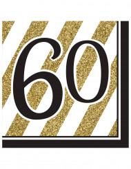 16 Guardanapos de papel 60 anos