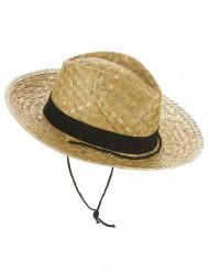Chapéu Cowboy com fita preta adulto