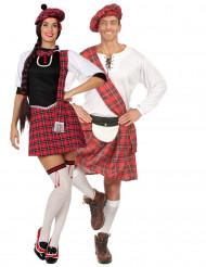 Disfarce de casal escocês curto adultos