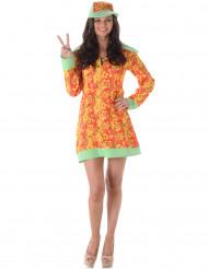 Disfarce disco hippie mulher