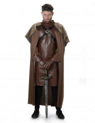 Disfarce de cavaleiro medieval para adulto