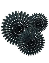 3 Rosetas de papel preto