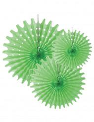 3 Rosetas de papel verde