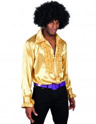 Camisa dourada homem