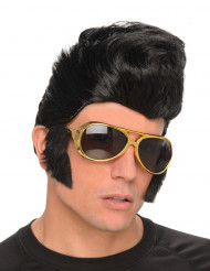 Peruca rock com óculos homem