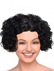 Peruca preta curta e encaracolada mulher