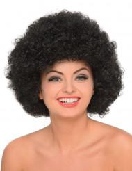 Peruca afro preta mulher
